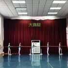 武汉市艺术学校3年级上学期女班踢腿组合
