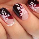 #美妆时尚##我要上热门#冬日温暖的红色美甲+雪花,真的美翻了,快来试试吧~😚😚#时尚美甲红色#