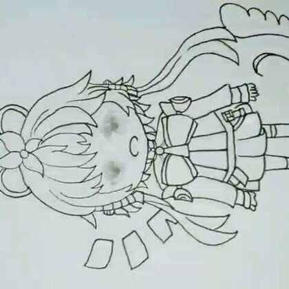 我也不知道她为什么是歪的#马克笔手绘##手绘洛天依##最强美拍画手#