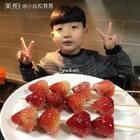 草莓糖葫芦🍓🍓🍓秘诀就是上糖要快速,大家用牙签做就可以啦,一口一个更方便👍多试几次就掌握啦😋白同学很喜欢吃水果糖葫芦,他嫌山楂酸😂就是小嘴巴吃不下大草莓😍😍#美食##草莓的花样吃法##小白亲子厨房#