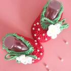 草莓宝宝鞋😊😊缝上白色的珠珠也很好看😄#手工##宝宝##宝宝鞋##手工宝宝鞋##手工编织#