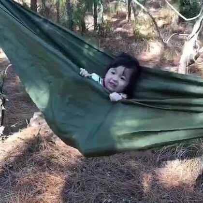 #宝宝#心心念念的吊床,蓁小妞表示很满足😘