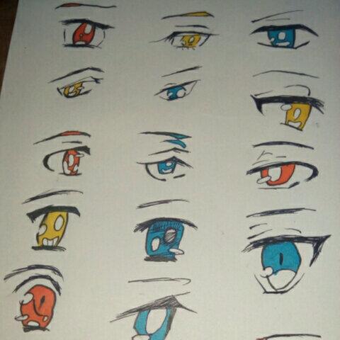 学长用马克笔画的动漫眼睛