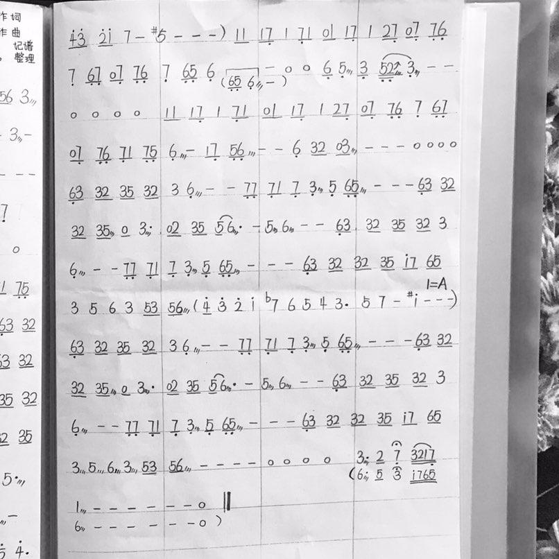 02-17 13:27     #简谱曲谱古筝谱# 古筝g调转a调《凉图片