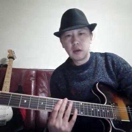 经典布鲁斯乐句分享(5)小技巧:利用布鲁斯音阶设计乐句,保证下一小节正好落在主音上 #音乐##吉他##布鲁斯#