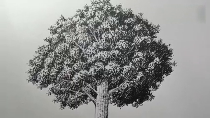 教你画一棵树,漫画家吉村拓也教你画一棵树,卧槽碉堡了,建议留着备用!#手工##生活DIY教程##涨姿势#