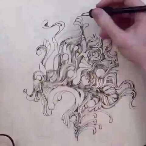 【我是科技控美拍】用1000度的笔作画👍👍👍👍#涨姿...
