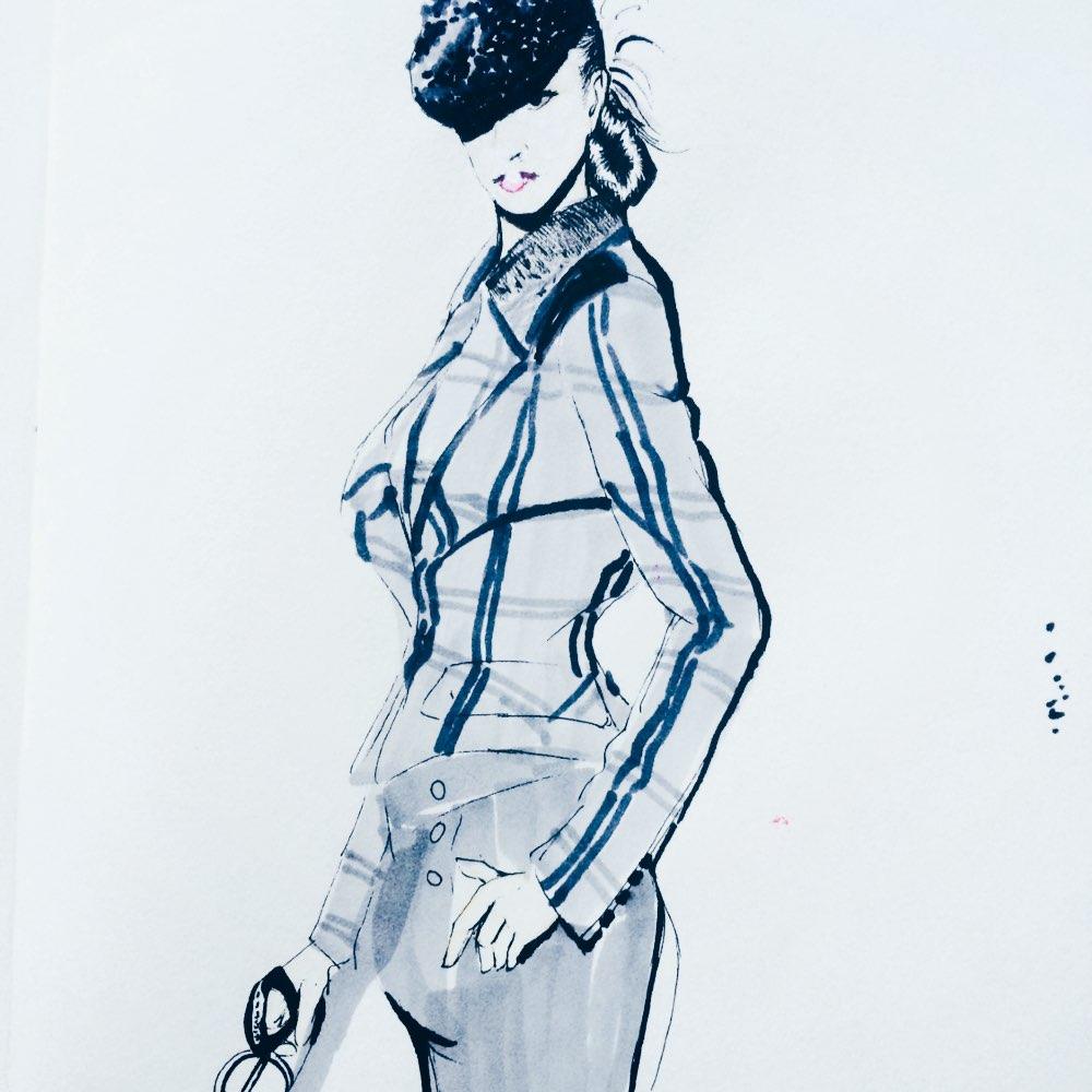 03-01 04:36     #手绘时装画#  dior lady