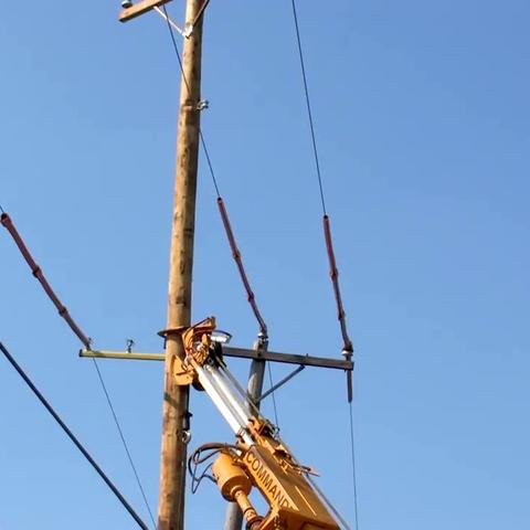 【科技原理美拍】外国更换电线杆有什么不一样吗?