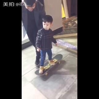 #宝宝#第一次滑板#滑板少年#