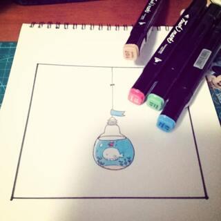 #我的马克笔画#今天持续摸鱼😜