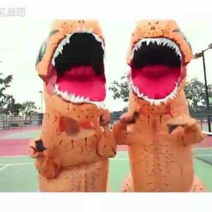🍉恐龙dancing to KPOP DANCES🍉笑死了😂#舞蹈##欧尼舞蹈##搞笑#