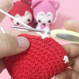 编织##手工毛线娃娃##阿狸玩偶教程#因为我的这根钩针已经用了两年多