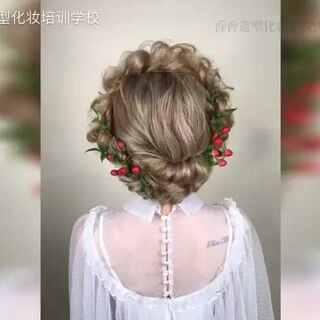 #时尚新娘发型#编发到底有多少种玩法?😄发型荒转走吧不谢~超简洁新娘编发一款!易学好上手,就是这么简单!多多转发点赞,周五继续分享!#发型##美拍小助手#