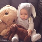 復活節快到了小兔子要準備出動🐰🐰🐰 #男寶寶##7個月大#