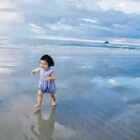 昨天去了窝爸@刘展耘 朋友的私人海滩。好美!#可爱吃货小萌妞##吃货小蛮#