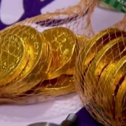 吃过没见过!硬币巧克力的制作过程#涨姿势#