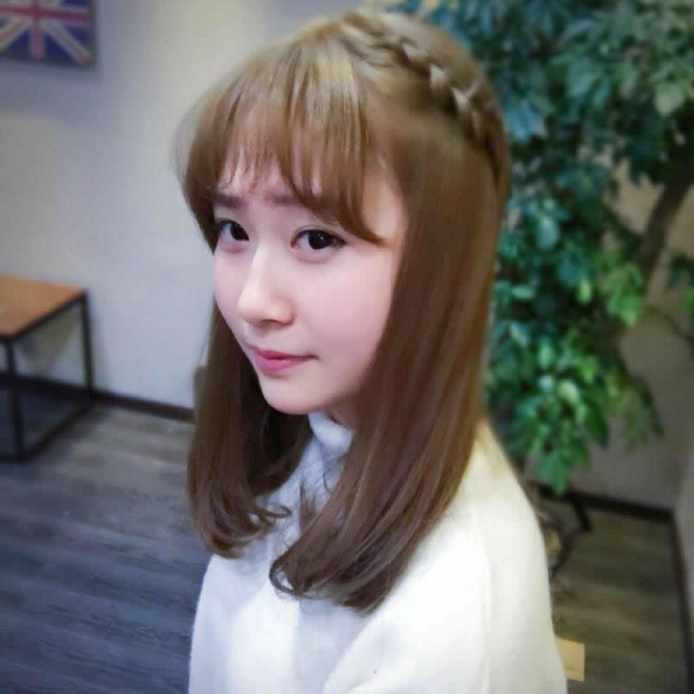 短发韩式编发发型扎法