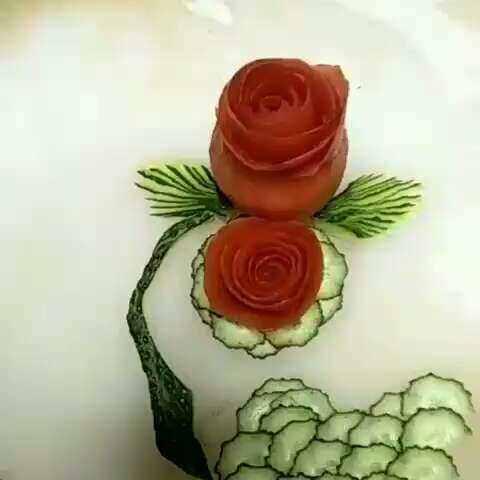 西红柿切花教程!喜欢的点赞加关注喜欢我视频