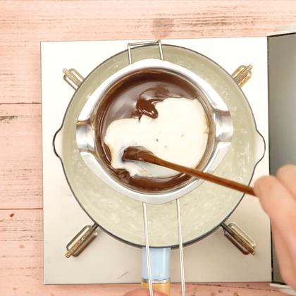 超甜蜜网红巧克力芝士火锅#魔力美食##美食##吃货#