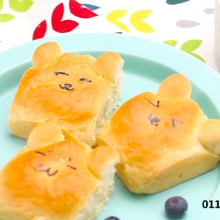 60秒学会熊胖子面包 关注微信:太阳猫美食TV;微博:太阳猫美食 获得更多食谱细节。#美食##早餐##下午茶#