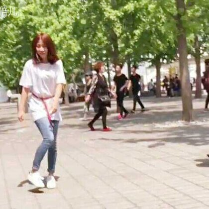 第一次在大街上慢动作跳舞💃