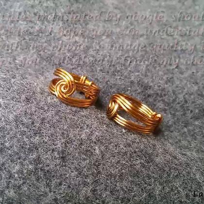教你DIY个铁丝戒指,弄得还挺精美的😀#手工##生活DIY教程##时尚#