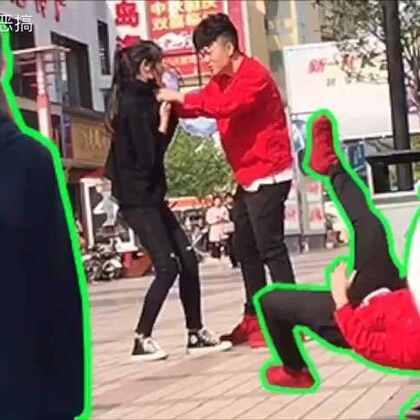 你会帮助一个被男朋友暴打的女生吗?街头测试!