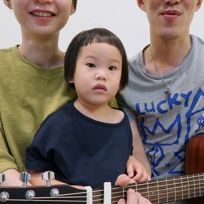 G.E.M - 新的心跳 ❤️❤️❤️ 很喜歡這首歌,想不到心心也會跟著唱了,So cute! #音樂##逗比##寶寶#