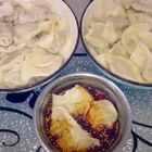 #美食#中午老妈包的饺子☺☺☺☺☺☺☺☺终于知道为啥我包饺子丑了,因为。。😂😂😂祖传的吧