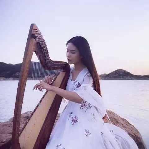 #音乐##女神##竖琴#青花瓷??出来拍外景好累啊,还不快给我