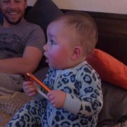 學唱歌🎤#其實是亂吼##男寶寶9個月大#