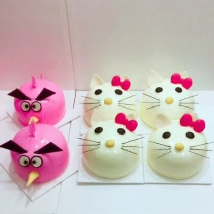 #美食##甜品##美食作业#儿童节快乐😁😁😁.你们喜欢kitty还是小鸟,留言告诉我👅👅👅