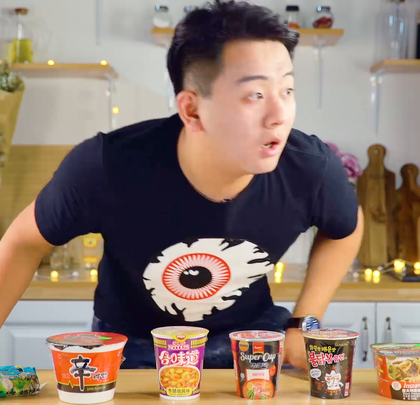 6款不同口味泡面的测评!#魔力美食##美食##泡面#