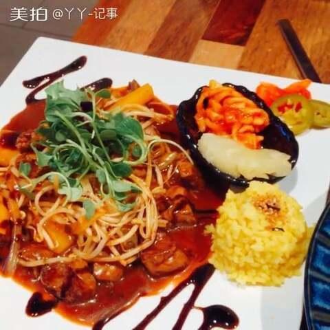 蟹肉意面牛排 #美食##在韩国...