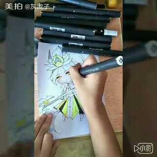 @叶子(,,•́.•̀,,) 要的#韩信#给了啊,我这人,很守信的。(。◝ᴗ◜。)@苏晓(´・ω・`) @吐彩虹的鱼尾狮❄ @耳朵💊 @哦~神奇の鳗鱼娘 @黍离🍂 #00后绘画大赛##马克笔手绘漫画##王者荣耀#