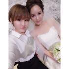 不能到场祝福多姐@馋猫latte ,多少有些遗憾,还好有萌妹子@在韩的女汉子😘二萌 微过来了最新合照,祝:百年好合❤早生贵子,来对这位美丽的新娘送上祝福吧🙆🙆🙆