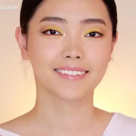 【小星儿Sophie美拍】【今夏最火黄色眼妆】黄色眼影是...
