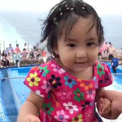 在游轮上呆了一天。#宝宝##旅游#