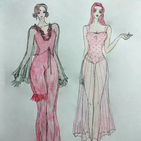 原创设计 服装设计稿 手绘彩铅画 常富贵儿的美拍