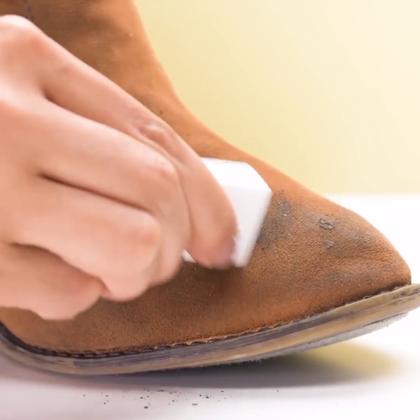 没有想到橡皮擦居然还能这么用!再教大家4个超赞的洗鞋护鞋方法,以后在白的鞋子也敢穿啦!#DIY##手工##我要上热门#