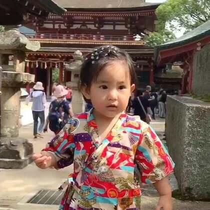 果果在旅途~日本福冈的太宰府。#宝宝##旅游#