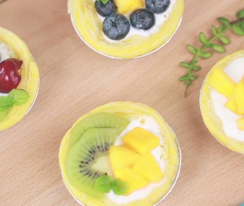 香甜的水果以及爽滑的老酸奶搭...
