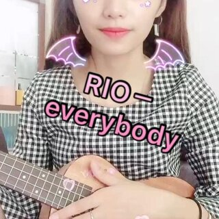 #ukulele弹唱#RIO鸡尾酒广告里的歌,everybody🍹