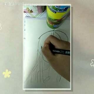 等我画功练好了我就去画我的小樱去啦啦啦😁下一个视频可能不是马克笔的吼😂我还要继续努力👏#手残党来画画##马克笔手绘漫画#