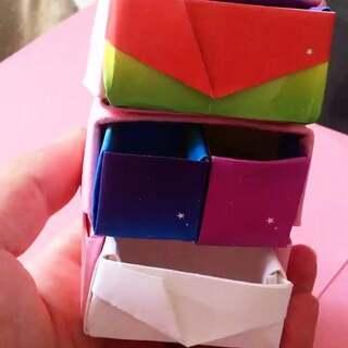 手工收纳盒##迷你收纳柜子##手工折纸