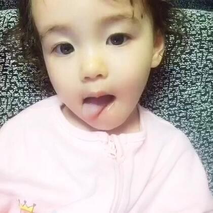 翻到Shelba去年的视频。萌我一脸血。转眼要三岁了#宝宝#