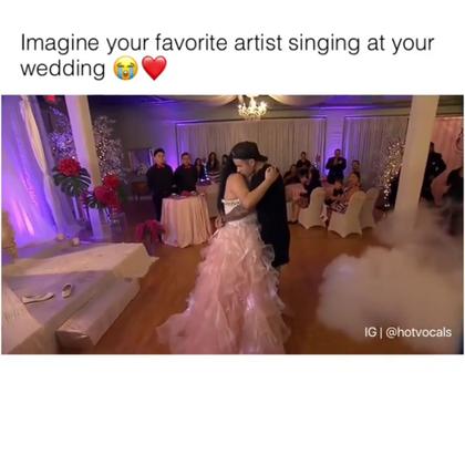 #创意#当你最喜欢的爱豆出现你的婚礼上为你唱歌,好暖❤