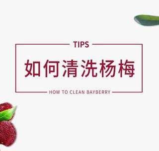 30秒学会清洗杨梅,就是这么简单 #美食##美食总动员#