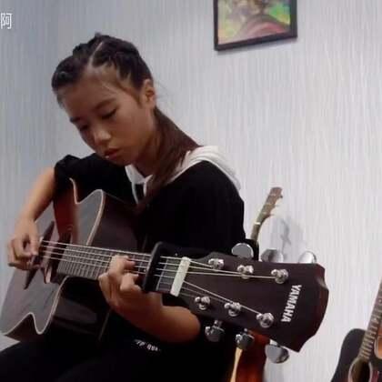 典雅初学学员弹唱旅行的意义,清澈的童声#音乐##吉他弹唱#